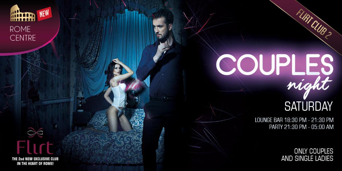 COUPLES NIGHT -  Flirt Club Privè Roma Sab 12 Gen 18:30